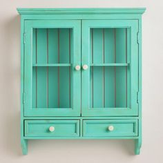 One of my favorite discoveries at WorldMarket.com: Aqua Maggie Wall Cabinet