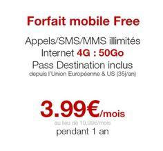 Free Mobile propose son forfait illimité à 3,99€/mois pendant un an