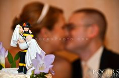 Fireman cake topper. - Rogers Photography