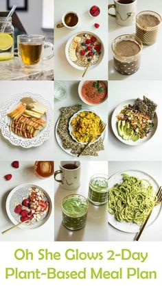 I'm so excited for today's post! Many of you have been asking me to put together some plant-based meal plans or menus – What does a full day of plant-based eating look like? How do I combine easy, hea
