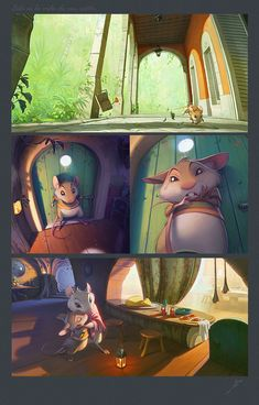 The Life of a Mouse Storyboard, Illustration Vector, Animation Background, Environment Concept Art, 2d Art, Environmental Art, Game Art, Decoration, Comic Art