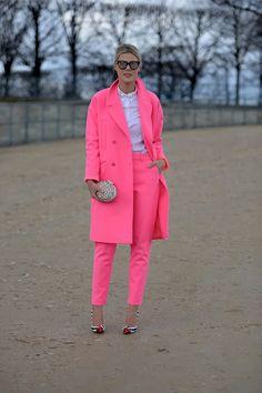 Paris Fashion Week autumn winter 2014-15 #PFW #Streetstyle #pink