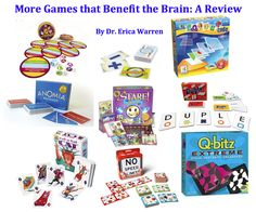 More games that benefit the brain: A review - Come check out how these games can strengthen the brain - just before the holidays!