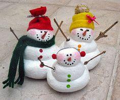 Salt Dough Snow Family