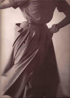 Fashion photography by Richard Rutledge  Vogue 1949