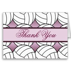 Shop Pink Girls Volleyball Player Sport Thank You Custo created by TLCGraphix. Thank You Greeting Cards, Custom Thank You Cards, Graduation Thank You Cards, Volleyball Players, Cute Cards, Pink Girl, Smudging, Paper Texture, Prints