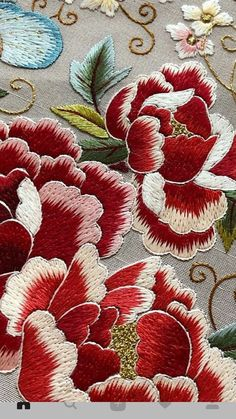 Japanese Embroidery Flowers Elisabetta ricami a - Salvabrani Jacobean Embroidery, Chinese Embroidery, Sashiko Embroidery, Brazilian Embroidery, Hand Embroidery Designs, Embroidery Applique, Beaded Embroidery, Embroidery Stitches, Embroidery Patterns