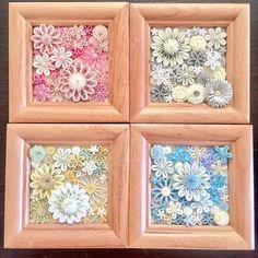 なんとか4つ完成ヾ(*ΦωΦ)ノ 今週はさらにサクサク作っていきたい! #クイリングペーパー #クイリング #paperflowers #quillingflowers #quillingart #ハンドメイドフラワー