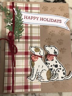 Holiday Cards, Christmas Cards, Beach Cards, Birthday Cards For Boys, Dog Cards, Stampin Up Christmas, Animal Cards, Christmas Animals, Stampin Up Cards