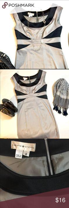 🎄SALE! LONDON STYLE Bodycon Party Dress 6 👗London Style TM bodycon black silver sleeveless dress. Size 6. Mini length. Heavier fabric. GUC. Listing for dress only. London Style TM Dresses Mini