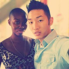 Korean and Black Couples in Committed Love - Asian Black Couples Mixed Couples, Black Couples, Cute Couples, Power Couples, Interacial Love, Interacial Couples, Black And White People, Black Love, Marriage Romance