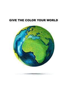 Cartão Dê cores ao seu mundo do Studio Ideiasnorabisko por R$24,00