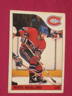 1985-86 #102 Mats Naslund, O-Pee-Chee OPC Montreal Canadiens, NHL Hockey Card | eBay