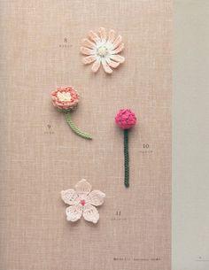 """""""Lacework flower motif"""". Японский журнал по вязанию.. Обсуждение на LiveInternet…"""