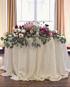 eucalyptus reception table decor |