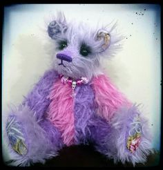 Tulip. Mohair jointed sitting artist bear. One of a by KittyBBears