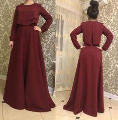 Simple maroon maxi dress, modest, floor length dress, vintage Feminine, hijab - New Dress Hijab Evening Dress, Hijab Dress Party, Hijab Style Dress, Modest Fashion Hijab, Abaya Fashion, Muslim Fashion, Fashion Dresses, Trendy Dresses, Simple Dresses