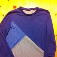 Elizabeth's Tessellate Tee in blues and grey