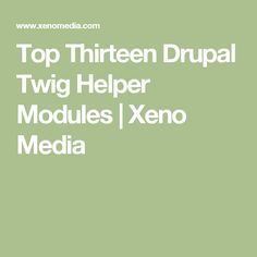 What you can do with Drupal core's Twig is pretty great, but the Drupal community always brings so much more to the table after real world use. Here is a big list of Twig helper modules to help build out your next Drupal theme!