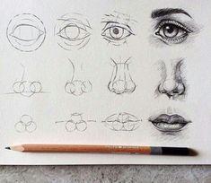 drawing eyes, nose, mouth tutorial