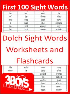 Check out the newest post (First 100 Dolch Sight Words Printables!) on 3 Boys and a Dog at http://3boysandadog.com/2014/03/first-100-dolch-sight-words/?First+100+Dolch+Sight+Words+Printables%21