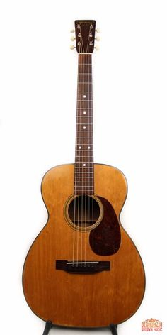 Here is a great playing 70 year old small bodied Martin with spruce top and mahogany back and sides. The instrument shows considerable playing wear including a very minor, repaired peghead break which did not go tall the way through. Despite the wear (or perhaps because of it) this is a really fine player with exceptional sound.