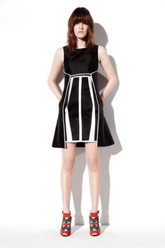 Modern black and white dress #RST2013 #NYFW