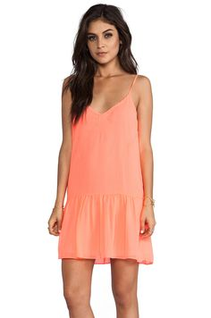 DV by Dolce Vita Tinsel Dress in Neon Coral from REVOLVEclothing