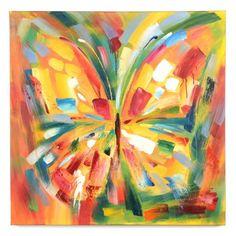 Lavina Butterfly Canvas Art Print #kirklands #rhapsodyofcolor #butterfly #canvas #art #print