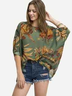 Leaves+Print+Chiffon+Shirt+9.90