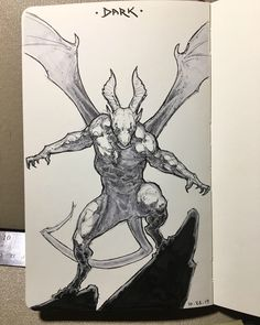 Monster Sketch, Monster Drawing, Monster Art, Demon Drawings, Cool Drawings, Creature Concept Art, Creature Design, Fantasy Kunst, Fantasy Art