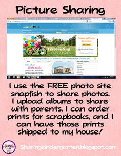 Picture sharing with parents...great site idea