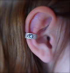 ear cuff stamped heart