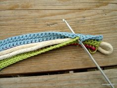 Handles for a crochet bag.