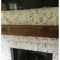 Millwood Pines Shiela Fireplace Shelf Mantel & Reviews   Wayfair Reclaimed Wood Mantel, Rustic Mantle, Rustic Fireplace Mantels, Fireplace Shelves, Wood Mantels, Mantel Shelf, Farmhouse Fireplace, Rustic Decor, Wall Mount Electric Fireplace