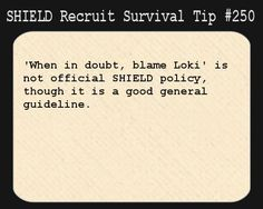 SHIELD RECRUIT SURVIVAL TIP.