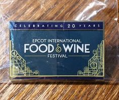 Disney 2015 Epcot 20th Anniversary Food & Wine Festival Tasting Trading Pin MIP