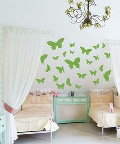 Another great find on #zulily! Lime Green Butterfly Decal Set #zulilyfinds