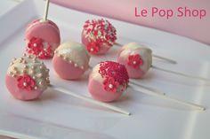 Pink Party Macaron Pops original design by Le Pop Shop https://www.facebook.com/LePopShop