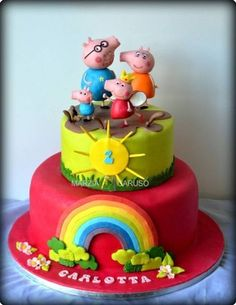 Peppa Pig Cake colorful