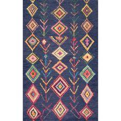 Bungalow Rose Tulsa Handmade Tufted Wool Brown Rug & Reviews | Wayfair Kids Area Rugs, 8x10 Area Rugs, Arrow Pattern, Triangle Pattern, Turquoise Rug, Affordable Rugs, Tribal Patterns, Hand Tufted Rugs, Brown Rug