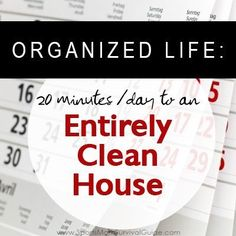 Follow this simple schedule and you can Clean your House in Only 20 Minutes a Day. You will feel like your house is always clean!
