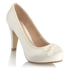 The perfect pair of shoes to go with a beautiful wedding dress,they are classy yet stylish,and not too high on the heal,I would so wear these with my wedding dress at my wedding,and they look really comfortable.:)