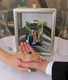 I love the idea of using a frame for the unity sand ceremony... I dont know how we can make it work, though. Without being super expensive o_0