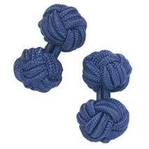 Navy blue silk knot cufflinks - Charles Tyrwhitt