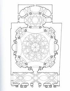 Guarino Guarini - Pianta della Chiesa di San Lorenzo - Torino