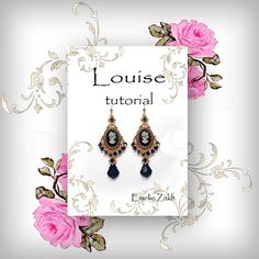 Check out Louise Beading tutorial.Beaded pattern earrings. ! PDF file containing instructions . on emeliebeads