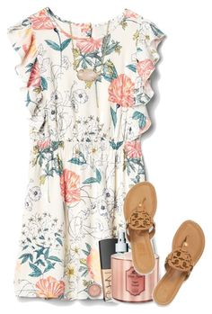 """spring break? don't know her"" by madelinelurene ❤ liked on Polyvore featuring FOSSIL, NARS Cosmetics, Sachajuan, Kendra Scott and Tory Burch"