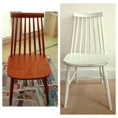 Before and After Vintage Spindle Chair Everything Has A Story - Vintage & Upcycled