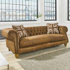 Anja Leather Chesterfield Sofa - Living Room Decor Ideas